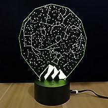 Lámpara De Mesa 3D Creativity Luminoso LED Constellation Night Light Bedroom Bedside Lamp Regalo De Navidad,Beige