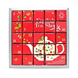 English Tea Shop Advent Calendar Red 24 Tea Pyramid Sachets 48 g (Pack of 2)