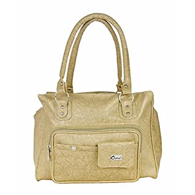 PU Leather Beige Fancy/Fashionable Hand Bag/Purse/Shoulder Bag, for Women/Girls/Ladies By JG Shopee