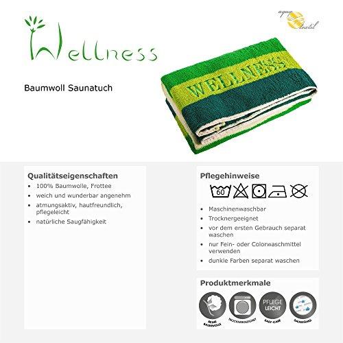 """Saunatuch mit """"Wellness"""" Stickerei - 5"""