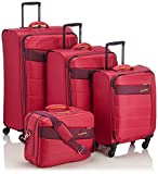 Travelite Kite Trolley Set 4w L/M Erweiterbar/S, Bordtasche, 87140-17, Koffer-Set, 75 cm, 242 L, Pink