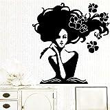 yiyitop Sticker Mural Cuisine Femme Jolie Vinyle Papier Peint Chambre de bébé Applique Vinyle XL 58 cm x 60 cm