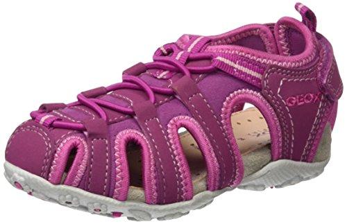 Geox Mädchen JR Sandal Roxanne C Geschlossene Sandalen, Pink (DK FUCHSIAC8321), 34 EU
