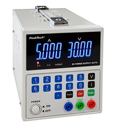 Peak Tech Linear geregeltes DC Laboratorio dispositivo di alimentazione 0-30V/0-5a;