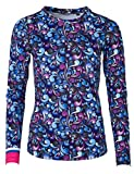 FreiSein Nordic Night Langarm Funktions-Shirt für Damen mit einzigartigem Print und in 3D Superstretch Qualität