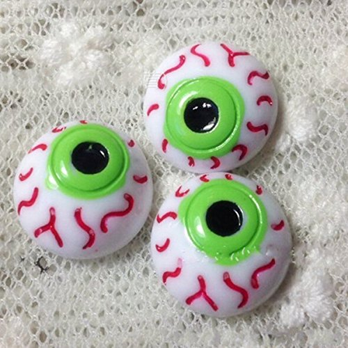 chengyida 5016mm Puppen Zubehör Hälfte rund Auge Halloween Eye Ball Puppe Augen (Halloween Eye Zubehör)