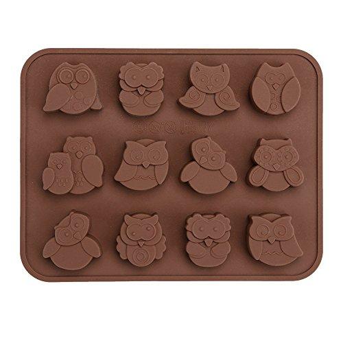 Generic 12 eulen - kuchen dekorieren süßigkeiten / cookies / schokolade / soap - schwamm, zinn