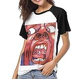 Photo de JEWold in The Court of The Crimson šC King Crimson Women's Baseball Short Sleeves Black Raglan T-Shirts Tee T Shirts for Women Tshirts Femme par JEWold
