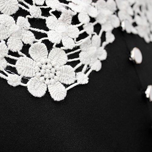 BlackButterfly Robe années 50 classique Clarity 'Rosie' Noir
