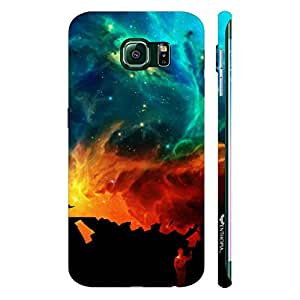 Samsung Galaxy S6 Edge Coloured sky designer mobile hard shell case by Enthopia