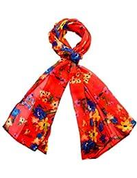 INDIAN FASHION GURU Womens Floral Print Stole, Scarf Or Small Dupatta -Christmas Sale