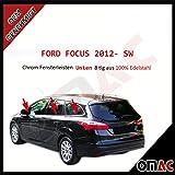 FORD FOCUS 2012- SW Chrom Fensterleisten Blenden Edelstahl 8-tlg