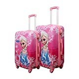 #5: GAMME Disney ELSA Pink Color -Trolly Luggage Set of 2/Hard Sided Luggage/Travel Bag/Kids Trolley Bag(20