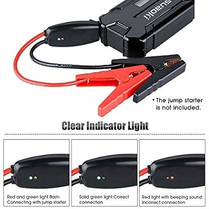 Suaoki 700resistentes pinzas inteligentes para recarga de batería, cables de arranque con pinzas de cocodrilo y enchufe inteligente EC5 de 12V para coches vehículos