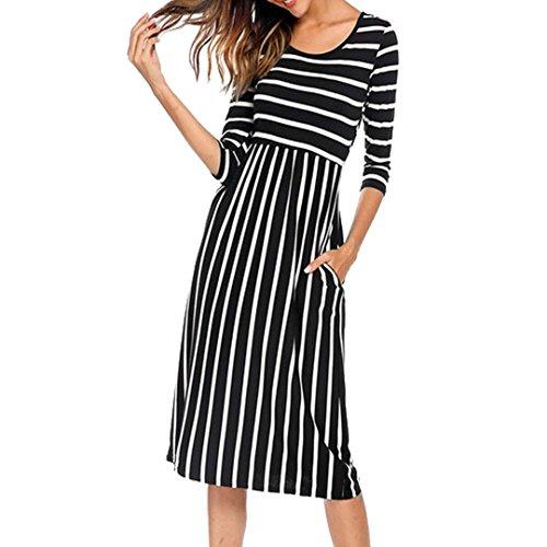 KaloryWee Women Sleeveless Printing Summer O Neck Beach Casual Maxi Dress Floral Dress