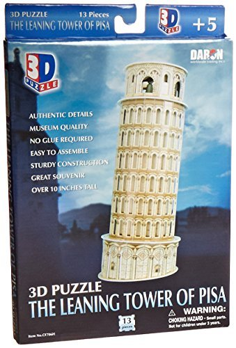 Daron Leaning Tower of Pisa 3D Puzzle, 13-Piece by Daron