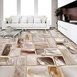 Rureng Benutzerdefinierte 3D Wandbild Tapete Bunte Shell ArtBodenfliesen Mosaik Aufkleber Wohnzimmer Badezimmer Tragen Rutschfeste Home Decor