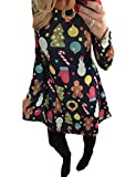 Vestito da donna di Natale Vestito da Swing Dress Black XL XL