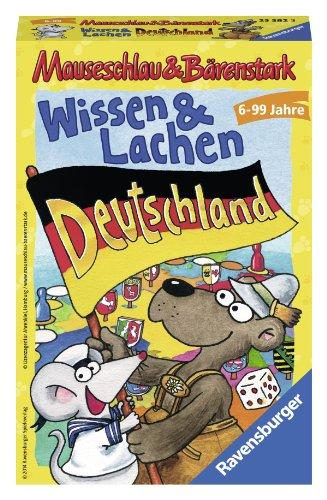 Ravensburger 23382 - Mauseschlau und Bärenstark: Wissen und Lachen Deutschland - Kinderspiel/ Reisespiel