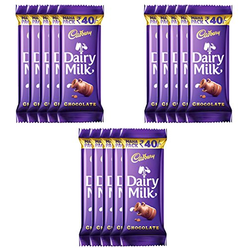 Cadbury Dairy Milk Maha Pack, 52g (Pack of 15)