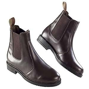 Ekkia Horse Riding Equi Leather Adults Jodhpur Boot Brown Size 3