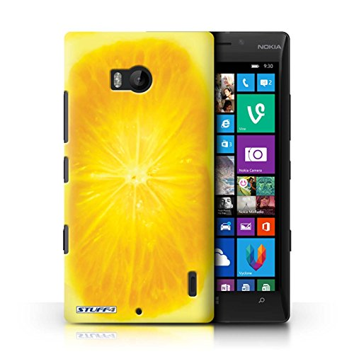 Kobalt® Imprimé Etui / Coque pour Nokia Lumia 930 / Fraise conception / Série Fruits Orange