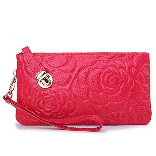 Eysee, Poschette giorno donna Rosso blu 20cm*11cm*1.5cm rosa
