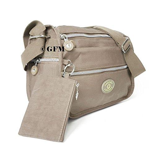 GFM Fashion, Borsa a tracolla donna Small Style 4 - Champagne Taupe (TPB)