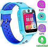 LDB Bambini Smartwatch telefono, GPS/LBS Tracker Touch Screen SOS Vocale Chiamata Camera Remota Sveglia Gioco Digitale Torcia Multifunzione Preferito Smart Watch Bambini