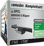 Rameder Komplettsatz, Anhängebock mit 2-Loch-Flanschkugel + 13pol Elektrik für Opel MOVANO B Kipper (116841-38516-1)