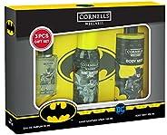 Cornells Wellness Batman Cartoon 3 Piece Gift Set for Kids - Eau De Parfum 30ML - Hand Sanitizer Spray 100ML -