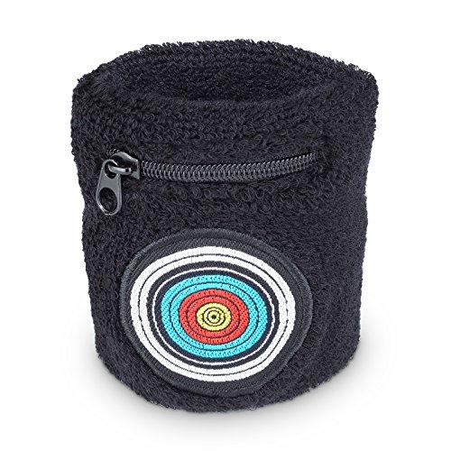 est bogensport Tir à l'arc de la sueur motif Bracelet avec cibles et pratique poche zippée