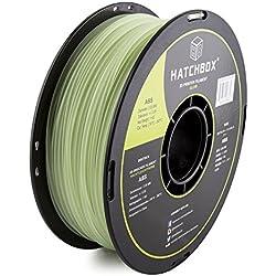 HATCHBOX 3,00 mm Nachtleuchtfarbe ABS-Filament für 3D-Drucker - 1 kg-Spule - Maßgenauigkeit +/- 0,05 mm