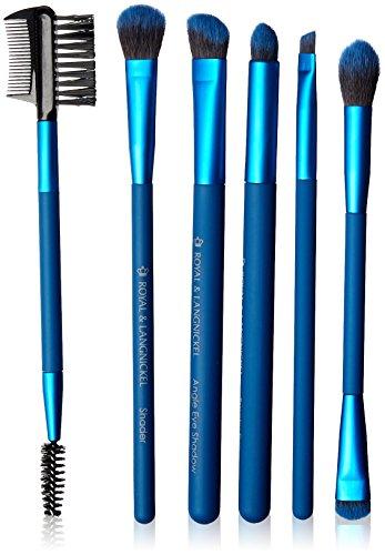 Royal Brush Moda Beautiful Eyes Brush Set and Case, Blue by ROYAL BRUSH