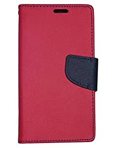 Aart Fancy Diary Card Wallet Flip Case Back Cover For Samsung 9500 - (Red) + USB Bracelet Cable with Charging and Sync for all smart phones by Aart Store.