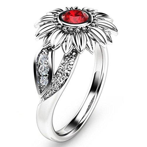 Ringe Diamant Für Größe 7 Frauen (Wunderschöne Sonnenblume Diamant Versprechen Verlobungsring Für Frauen Größe 7)
