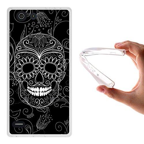 Elephone S2 Hülle, WoowCase Handyhülle Silikon für [ Elephone S2 ] Schwarzer zuckeriger Totenkopf Handytasche Handy Cover Case Schutzhülle Flexible TPU - Transparent