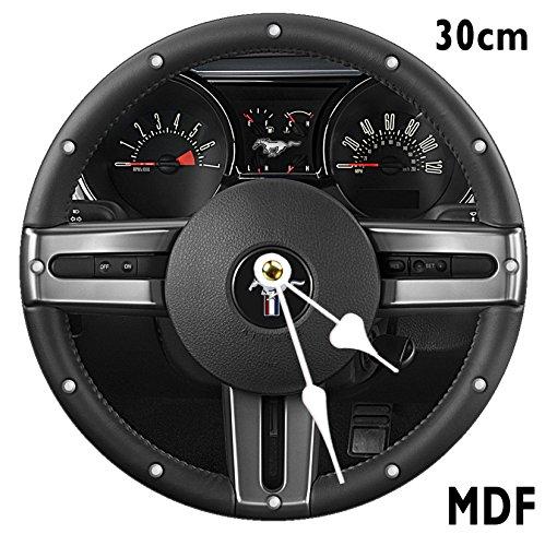 Ford Mustang Rad Wanduhr gro? 30?cm MDF kann personalisiert werden