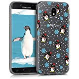 kwmobile Samsung Galaxy J5 (2017) Duos Hülle - Handyhülle für Samsung Galaxy J5 (2017) Duos - Handy Case in Schwarz Hellblau Transparent
