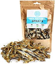 Pets Purest Natural Sprats Dog Treats 100% Pure Air-Dried Treats for Dogs - Just One Ingredient - Grain, Glute