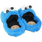 """United Labels 0119987 - Zapatillas para casa (talla L, 41/43), diseño de """"Monstruo de las galletas"""" de Barrio Sésamo"""