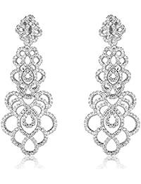 SHAZE Interlaced Crystal Earring|Earrings For Women|Earrings For Women Stylish