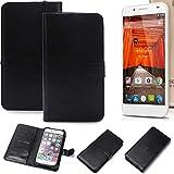 K-S-Trade 360° Wallet Case Handyhülle für Swees Godon X589 Schutz Hülle Smartphone Flip Cover Flipstyle Tasche Schutzhülle Flipcover Slim Bumper schwarz, 1x