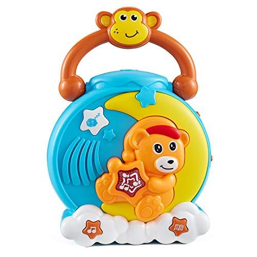 Think Gizmos Orso Proiettore a 360° TG710 - Giocattolo Musicale per Dormire per la Prima Infanzia e Bambini fra 1 e 4 Anni di età