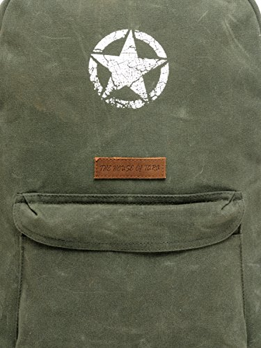 Best canvas backpack in India 2020 The House Of Tara Rugged Unisex Laptop Backpack (Moss Inexperienced) HTBP 164 Image 5
