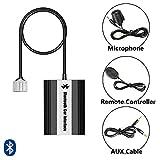 SAXOBUY Bluetooth USB Aux Musik Adapter mit Freisprecheinrichtung inkl. Mikrofon + Kabelfernbedienung für Lexus + Toyota (Typ Big 5+7)