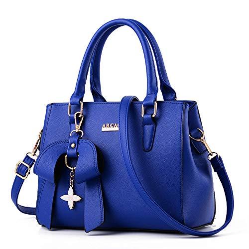Fashion Crossbody Tote mit elegantem Anhänger Bow Classic Damen Geldbörse Schulter Crossbody Multicolor @ bright blue (Bow Damen-geldbörse)