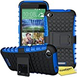 HTC Desire 320 Handy Tasche, FoneExpert® Hülle Abdeckung Cover schutzhülle Tough Strong Rugged Shock Proof Heavy Duty Case für HTC Desire 320 + Displayschutzfolie (Blau)