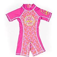 Surfit - Traje de neopreno de manga corta para niña rosa Pink Beach Print Talla:2-3 años