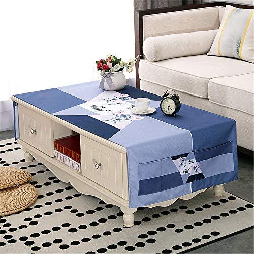 qwdf Baumwolle und Leinen wasserdicht Geschirrtuch Wohnzimmer rechteckigen Teetisch kann Tuch Handtuch Tischtuch Couchtisch Pad Kühlschrank Abdeckung Handtuch Staubschutz abdecken